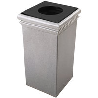 Commercial Zone 722117 StoneTec 30 Gallon Ashtone Square Trash Receptacle with Lid