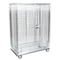 Metro SEC55LC Chrome Mobile Heavy Duty Wire Security Cabinet - 50 1/2 inch x 28 1/16 inch x 68 1/2 inch