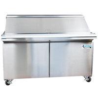 Avantco SS-PT-60M 60 inch 2 Door Mega Top Stainless Steel Refrigerated Sandwich Prep Table
