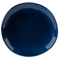 GET CS-7-CSB Cosmo 7 inch Blue Melamine Irregular Round Coupe Plate - 12/Case