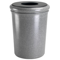 Commercial Zone 720917 StoneTec 50 Gallon Ashtone Round Stone Trash Receptacle with Lid