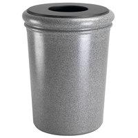 Commercial Zone 720917 StoneTec 50 Gallon Ashtone Round Stone Trash Receptacle with Lid