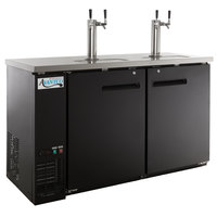 Avantco UDD-60-HC (2) Double Tap Kegerator Beer Dispenser - Black, (2) 1/2 Keg Capacity