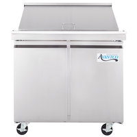 Avantco SS-PT-36M 36 inch 2 Door Mega Top Stainless Steel Refrigerated Sandwich Prep Table