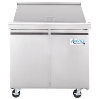 Avantco SS-PT-36M 36 inch 2 Door Mega Top Stainless Steel Refrigerated Sandwich Prep Table