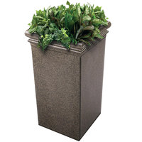 Commercial Zone 724118 StoneTec 19 inch x 19 inch x 33 inch Aspen Tall Planter