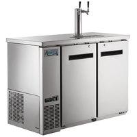 Avantco UDD-48-HC-S Double Tap Kegerator Beer Dispenser -Stainless Steel, (2) 1/2 Keg Capacity