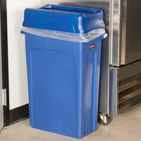 Slim Trash Cans Wall Hugger Trash Cans Narrow Trash Cans