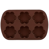 Wilton 2105-4924 Silicone 6-Compartment Blossom Brownie / Treat Mold