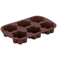 Wilton 2105-4924 Silicone 6-Compartment Blossom Brownie / Treat Mold