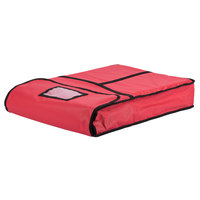 Intedge Insulated Delivery Bag, Full Size Bun / Sheet Pan Carrier, Red Vinyl, 18 inch x 26 inch x 5 inch