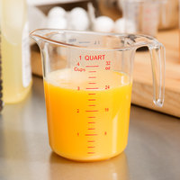 Choice 1 Qt. (4 Cups) Clear Plastic Measuring Cup with Gradations