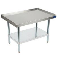 Vollrath 40741 36 inch x 24 inch Standard Duty Stainless Steel Equipment Stand with Galvanized Undershelf