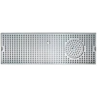 Micro Matic DP-120D-20GR 5 inch x 20 inch Stainless Steel Surface Mount Drip Tray with Glass Rinser
