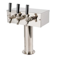 Micro Matic D7743PSSKR Stainless Steel Kool-Rite Glycol Cooled 3 Tap T Style Tower - 3 inch Column