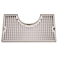 Micro Matic DP-1020 8 inch x 14 inch Stainless Steel Surface Mount Drip Tray with 4 inch Column Cutout