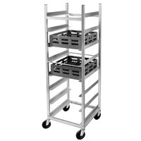 Channel AXD-GRR-8 8 Shelf Glass Rack Cart with 8 inch Spacing