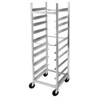 Channel AXD-GRR-6 10 Shelf Glass Rack Cart with 6 inch Spacing