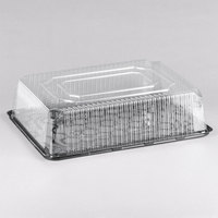 D&W Fine Pack G95-1 1/2 Size 2-3 Layer Sheet Cake Display Container with Clear Lid   - 33/Case