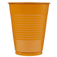 Creative Converting 323389 16 oz. Pumpkin Spice Orange Plastic Cup - 20/Pack