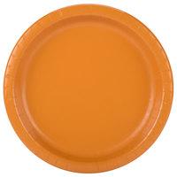 Creative Converting 323393 10 inch Pumpkin Spice Orange Round Paper Plate - 24/Pack