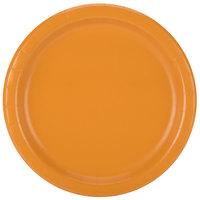 Creative Converting 323386 9 inch Pumpkin Spice Orange Round Paper Plate - 24/Pack