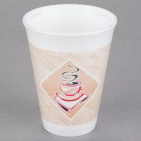 Dart 12X12G ThermoGlaze 12 oz. Cafe G Espresso Foam Cup - 20/Pack