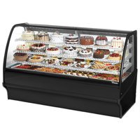 True TDM-R-77-GE/GE 77 inch Black Curved Glass Refrigerated Bakery Display Case