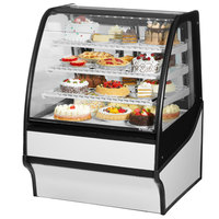 True TDM-R-36-GE/GE 36 inch White Curved Glass Refrigerated Bakery Display Case