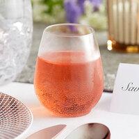 Visions 4 oz. Clear Plastic Stemless Wine Sampler Glass - 8/Pack