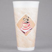Dart 20X16G 20 oz. Espresso Foam Cup - 20/Pack