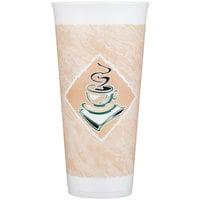 Dart 24X16G 24 oz. Espresso Foam Cup - 20/Pack