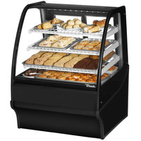 True TDM-DC-36-GE/GE 36 inch Black Curved Glass Dry Bakery Display Case