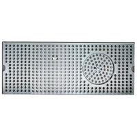 Micro Matic DP-120DGR 5 inch x 12 inch Stainless Steel Surface Mount Drip Tray with Glass Rinser