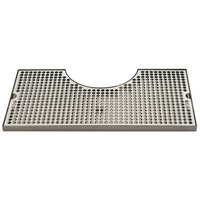 Micro Matic BVL-120LDCH Zeus 10 inch x 19 3/4 inch Stainless Steel Surface Mount Drip Tray with 8 3/8 inch x 3 1/2 inch Column Cutout