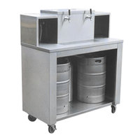 Micro Matic CB-SS2A 2 Keg Stainless Steel Portable Dispensing Bar - 48 inch x 24 inch x 56 3/8 inch