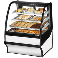 True TDM-DC-36-GE/GE 36 inch White Curved Glass Dry Bakery Display Case