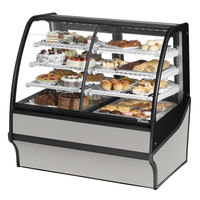 True TDM-DZ-48-GE/GE 48 inch Stainless Steel Curved Glass Dual Dry / Refrigerated Bakery Display Case with Stainless Steel Interior