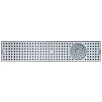 Micro Matic DP-120D-45GR 5 inch x 45 inch Stainless Steel Surface Mount Drip Tray with Glass Rinser