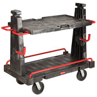 Rubbermaid FG446500BLA Convertible A-Frame 44 inch x 24 inch Truck - 2000 lb. Capacity