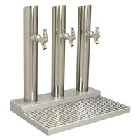 Micro Matic BS-SKY-3PSSKR-LR Skyline Stainless Steel Kool-Rite Glycol Cooled 3 Tower, 3 Tap Station