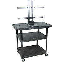 Luxor / H. Wilson LE40WTUD Flat Panel TV Cart with 3 Shelves for Up to 50 inch Screens