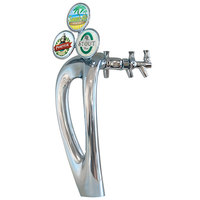 Micro Matic 9503-C-M Mystique Chrome Glycol Cooled 3 Tap Tower with Medallions
