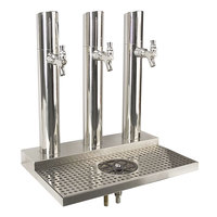 Micro Matic BS-SKY-3PSSKR Skyline Stainless Steel Kool-Rite Glycol Cooled 3 Tower, 3 Tap Station with Glass Rinser
