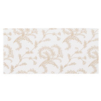 5 3/8 inch x 2 5/8 inch White 1/2 lb. 3-Ply Glassine Candy Box Pad with Ivory Pattern - 25/Pack