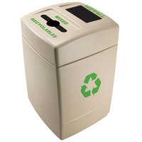 Commercial Zone 745510 55 Gallon Dark Pearl Mixed Recyclables / Trash Receptacle