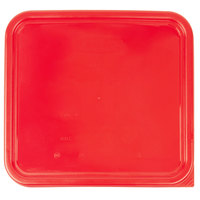 Rubbermaid 1980307 Color-Coded 12, 18, and 22 Qt. Red Square Food Storage Container Lid
