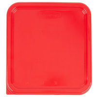 Rubbermaid 1980200 Color-Coded 2, 4, 6, and 8 Qt. Red Square Food Storage Container Lid
