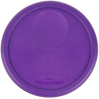 Rubbermaid 1980384 Color-Coded 6 and 8 Qt. Purple Round Food Storage Container Lid