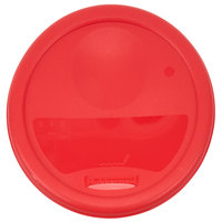 Rubbermaid 1980337 Color-Coded 2 and 4 Qt. Red Round Food Storage Container Lid
